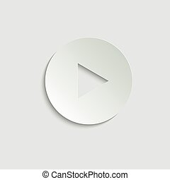 play icon. Video play symbol. Vector icon for website design, app.