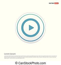 Play Icon - white circle button
