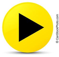 Play icon yellow round button