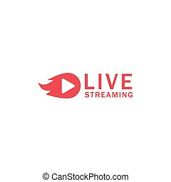 Play live streaming icon design template vector