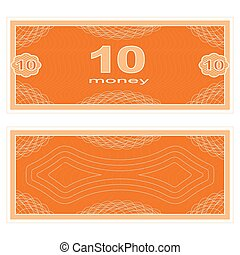 Play money. Ten