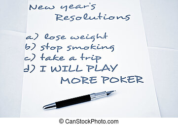 Play more poker - New year resolution play more poker
