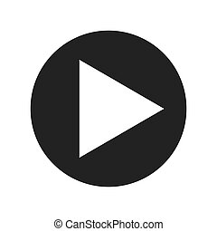 play movie button flat icon