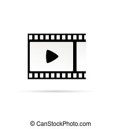 play movie symbol vector illustration