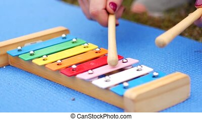 Play on Baby Color Xylophone.