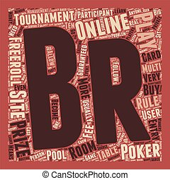 play online poker tournament 1 text background wordcloud concept