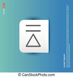 Play Pause Icon - Blue Sticker button