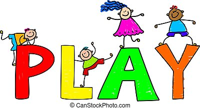 play - Play text message with little kids climbing over the...
