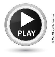 Play prime black round button