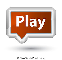 Play prime brown banner button