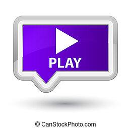 Play prime purple banner button