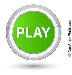 Play prime soft green round button