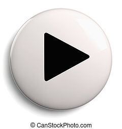 Play Push Button Circle Symbol