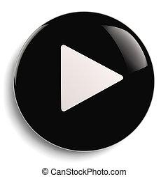 Play Push Button Circle Symbol