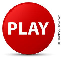 Play red round button