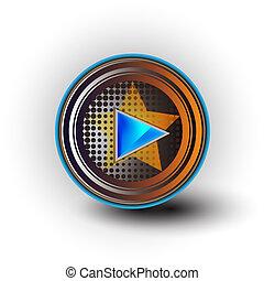 play sign icon button