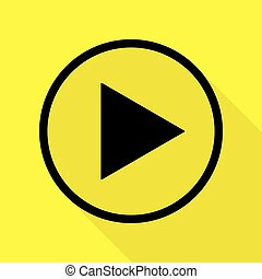 Play icon vector  play video illustration in flat style on