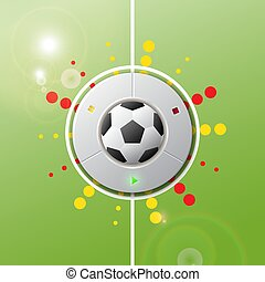 Play soccer football realistic button.