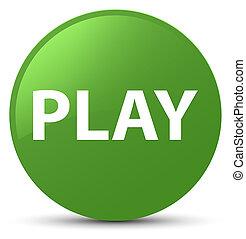 Play soft green round button