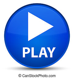 Play special blue round button