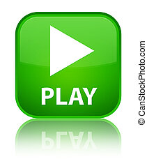 Play special green square button