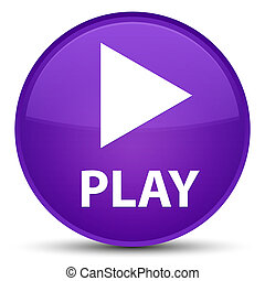 Play special purple round button