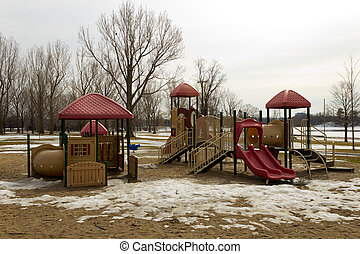 Play structure in the park
