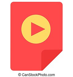 Play symbol flat vector icon