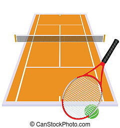 play tennis on orange court