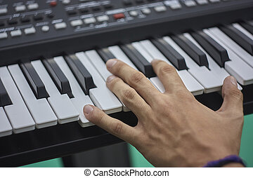 Play the keyboard
