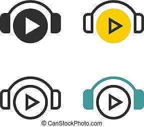 Play through headphones