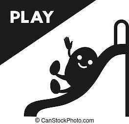 play time funny flat illustration style