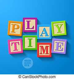 Play Time - wooden blocks