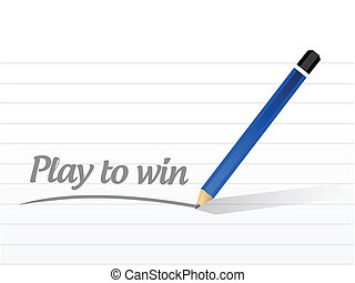play to win message sign illustration design