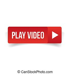 Play video button red vector