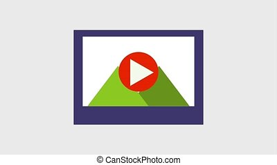 play video icons - play video of mountains and clouds icons...