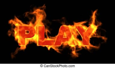 play word, fire sign.