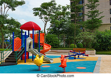 play yard for children in a residential area