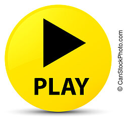 Play yellow round button