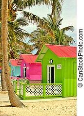 playa, cabanas