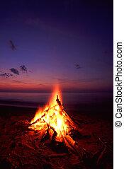 playa, campfire
