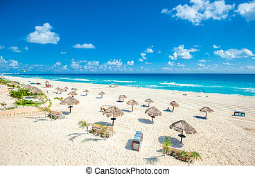 playa cancun, panorama, méxico