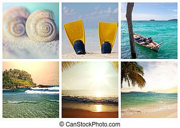 playa, collage