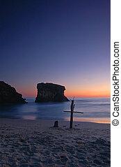 playa, cruz