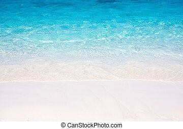playa de arena, mar, onda