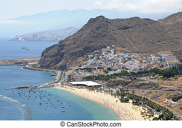 Playa de Las Teresitas and San Andres, Canary Island...