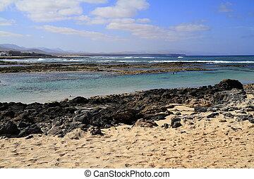 playa, de, los, lagos, -, el, cotillo, fuerteventura, ilhas canário, espanha