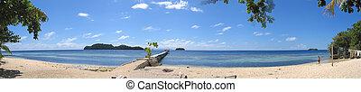 playa, de, pulau, kadidiri, togians, isla, sulawesi, indonesia, grande, panorama