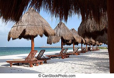 Playa Del Carmen beach in Mexico