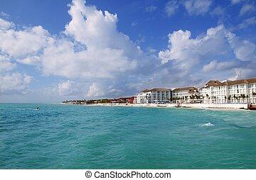 Playa del Carmen Caribbean turquaoise beach